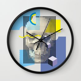 Compo with Skull Wall Clock