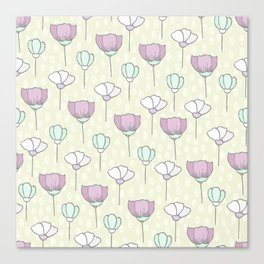 flowers pattern zz Canvas Print