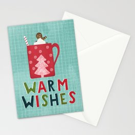 Warm Christmas Wishes Stationery Cards
