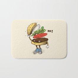 Burger Greeting Bath Mat