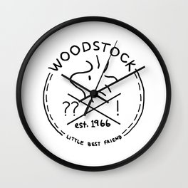 Woodstock Emblem Wall Clock