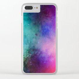 Mystical azure galaxy Clear iPhone Case