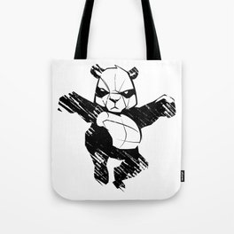 sketch panda martial arts Tote Bag
