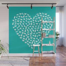 I Heart Cats Wall Mural