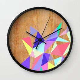 Wooden Geo Pastel Wall Clock