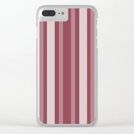 Dark Rose Victorian Lady Stripe Clear iPhone Case