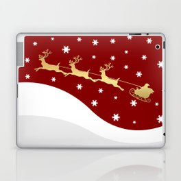 Red Christmas Santa Claus Laptop & iPad Skin