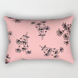 pink flower eaters Rectangular Pillow