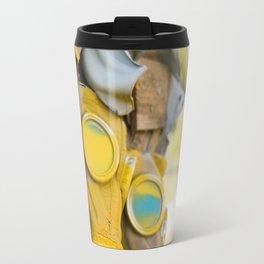 Yellow gas mask Travel Mug