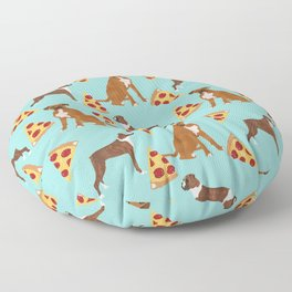 Boxer dog pattern pizza dog lover pet portraits boxers dog breed by pet friendly Floor Pillow