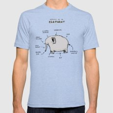 Anatomy of an Elephant Tri-Blue Mens Fitted Tee MEDIUM