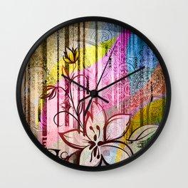 Paisleys Floral Wall Clock