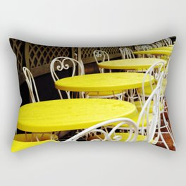 Outdoor Cafe Rectangular Pillow