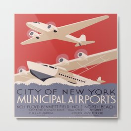 Vintage poster - New York Municipal Airports Metal Print