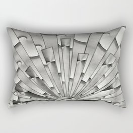 Mercury Glass Art Deco Sunburst Rectangular Pillow