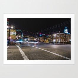 Downtown Delaware Art Print