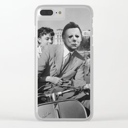 Michael Myers in Roman Holiday Clear iPhone Case