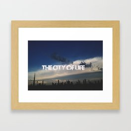 The city of life // #DubaiSeries Framed Art Print