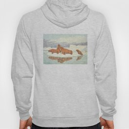 Vintage Illustration of Walruses (1917) Hoody