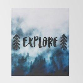 Explore! Throw Blanket