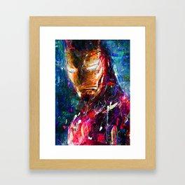BRUSH STROKE IRONMAN Framed Art Print