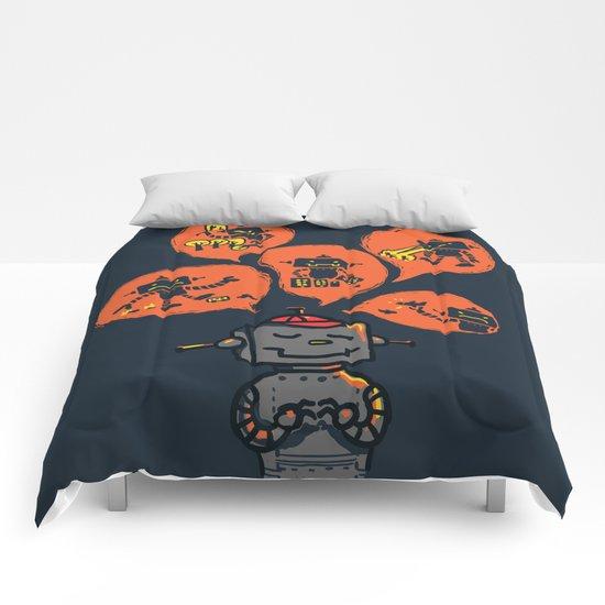 When I grow up - an evil robot dream Comforters