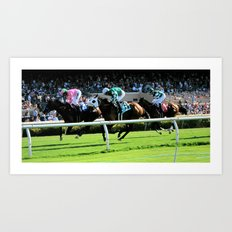 Trifecta- Day at the Downs Art Print