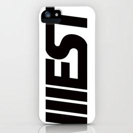 WEST CLASSIC BLACK iPhone Case