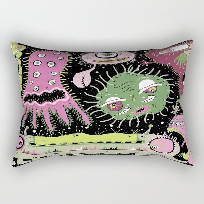 Cosmic Cooties Rectangular Pillow