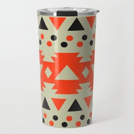 Black and red polka dots with triangles Travel Mug