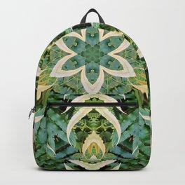 Foliage Leaves and Fern Mandala Backpack