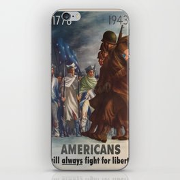 Vintage poster - World War II iPhone Skin