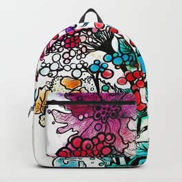 Floral watercolor abstraction Backpack
