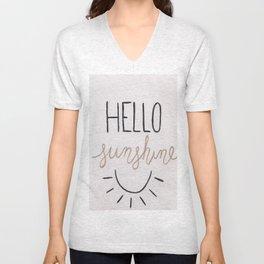 Hello Sunshine Unisex V-Neck