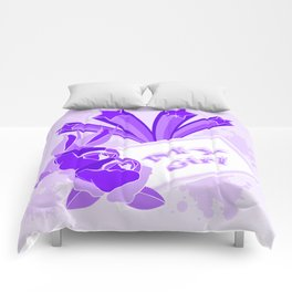 Purple roses and shooting stars for MY GIRL Comforters
