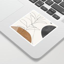 Abstract Art /Minimal Plant Sticker