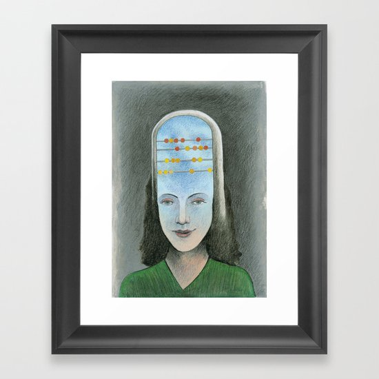 Counting head Framed Art Print