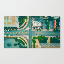 The City From Above (Color) Canvas Print