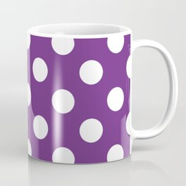 Eminence - violet - White Polka Dots - Pois Pattern Coffee Mug
