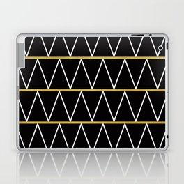 Black and gold zigzag Laptop & iPad Skin