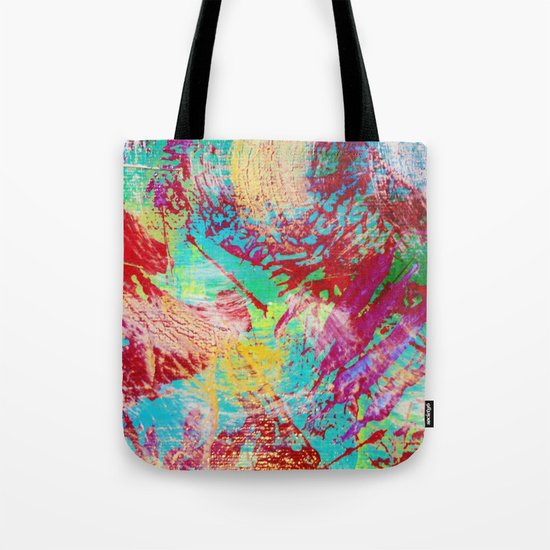 REEF STORM - Fun Bright BOLD Playful Rainbow Colors Underwater Ocean Reef Theme Coral Aquatic Life Tote Bag