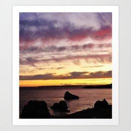 Algarve Sunset (Colour) Art Print