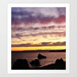 Algarve Sunset (Colour) Art Print