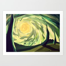 When the shadows come to life Art Print