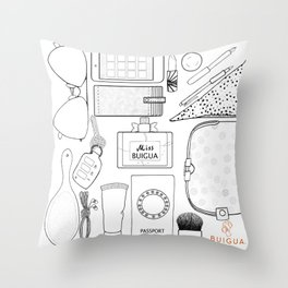 Whats in my bag Throw Pillow
