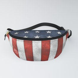 American Flag Stars and Stripes Distressed Grunge 4th. July Fanny Pack