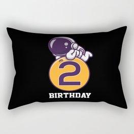 Astro 2nd Birthday Rectangular Pillow