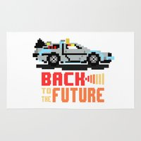 delorean Area & Throw Rugs featuring Back to the future: Delorean by AlbaRicoque