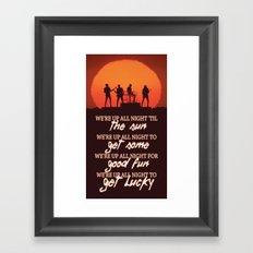 Get Lucky ; Daft Punk Framed Art Print