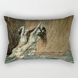 """Arthur Rackham Watercolor for Wagner's """"The Ring"""" Rectangular Pillow"""